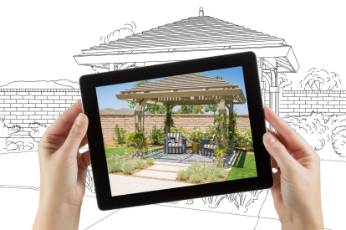 a picture frame showing a Ballarat Carports patio